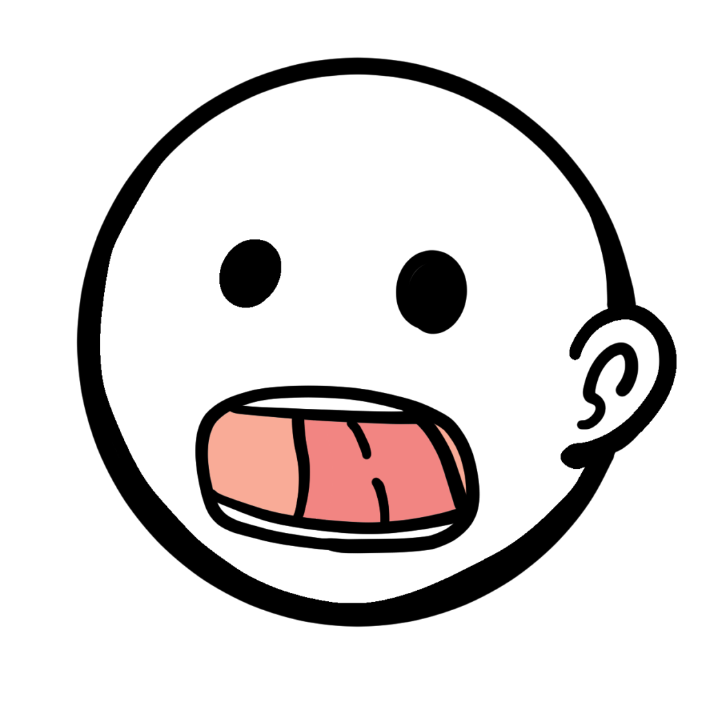 パタカラ体操のタの口の動きのイラストです。無料フリー素材なので自由に使えます。