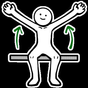 腕を横から上げる体操のイラスト
